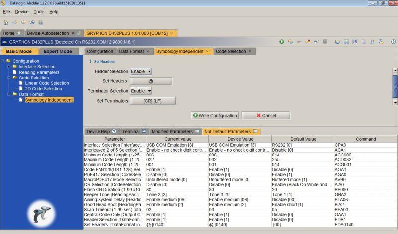 Gryphon D432 - header - Programowanie prefixu/headera