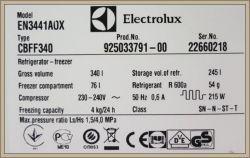 Electrolux EN3441A0X (Typ CBFF340) Data produkcji lodówki?