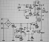Transformator sterujący tyrystorami - konfiguracja