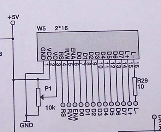 LCD HD44780 - problem z potencjometrem kontrastu