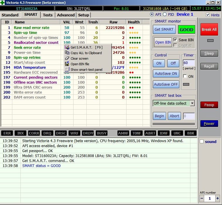 S.M.A.R.T Technologia monitoringu i raportowania stanu dysku