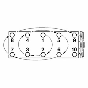 Citroen Xantia 1,8 16V - moment dokręcania śrub głowicy