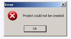 WinCC - brak możliwości tworzenia projektu