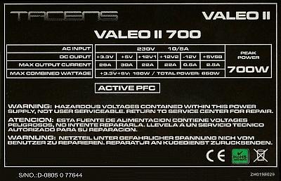 Tacens model: Valeo II 700 - Dziwna praca zasilacza?
