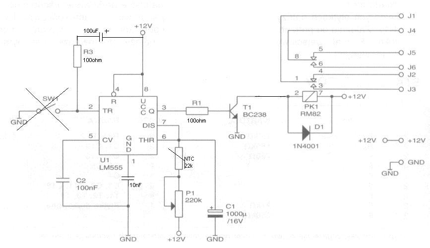 Przepala si� 555 w sterowniku czasowym zale�nym od termistora