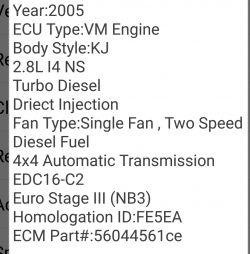 Jeep crd 2005 - Schemat ABS