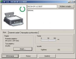 RICOH SP 112 - Reset chipa w drukarce RICOH SP 112