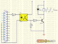 zamiast diody - przekaźnik z optoizolacją