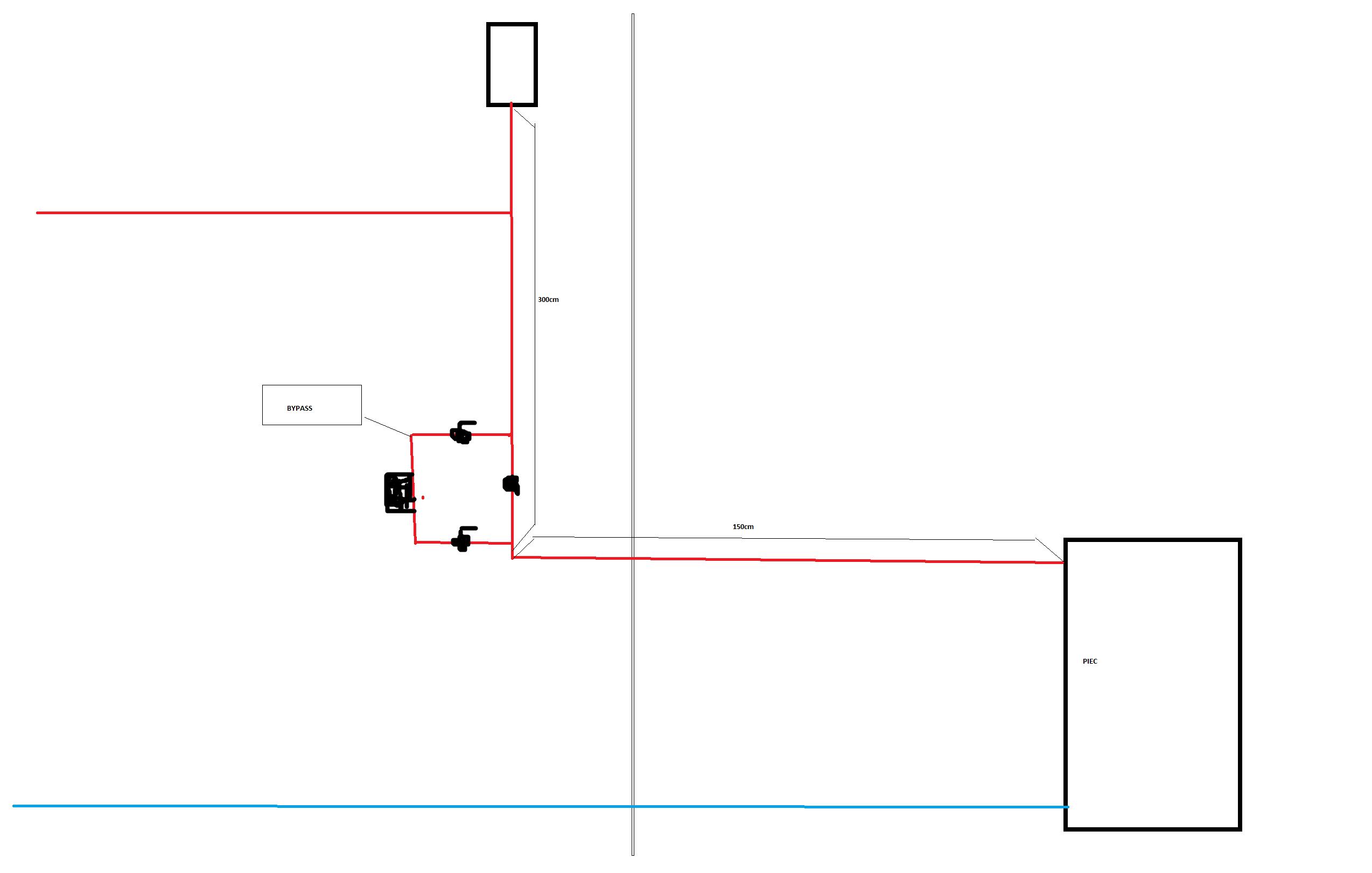 Schemat instalacji CO. Odleg�o�� naczynia wyr�wnawczego od pieca C.O.