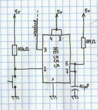 NE555 jako wy��cznik czasowy - przer�bka.