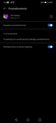 Powiadomienia Huawei android 10