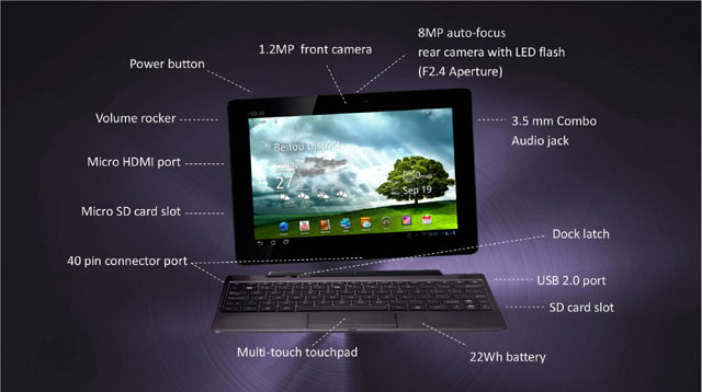 Ruszy�a strona www tabletu Asus Prime Transformer. Obejrzyj Androida 4.0 ICS