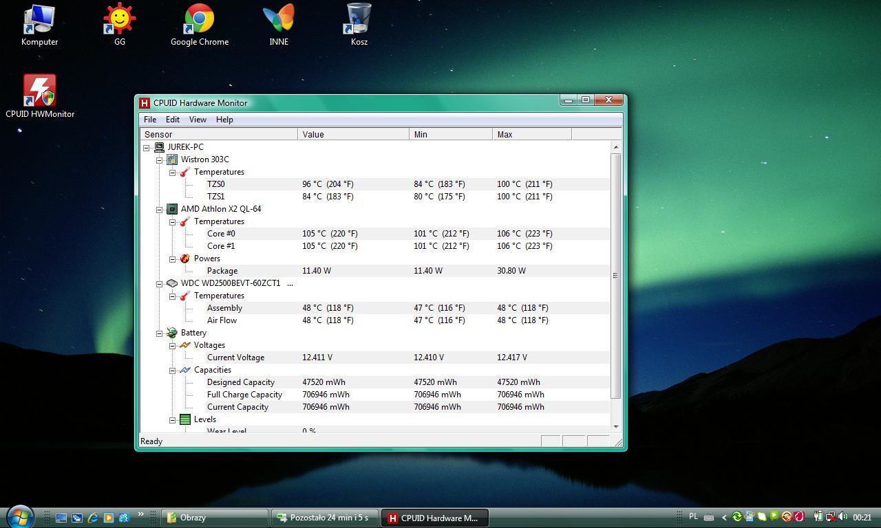HP Compaq CQ60, temp w spoczynku powy�ej 90stopni