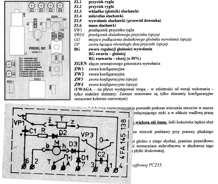 Proel PA456 - Wymiana domofonu(dopasowanie schemat�w)