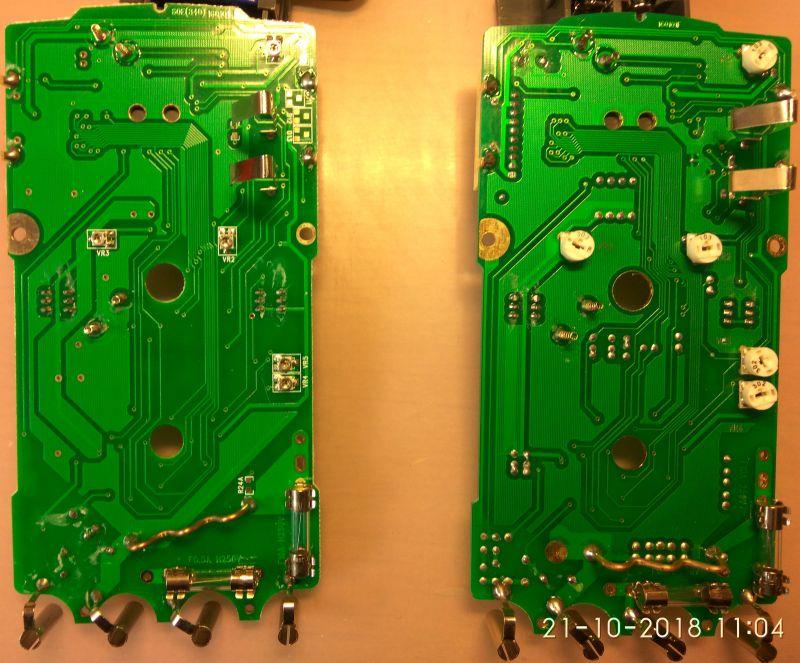 Porówanie dwóch mierników UT60E - zmiany w produkcji