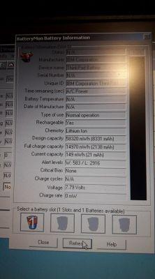 Resetowanie baterii laptopa IBM Thinkpad A20M