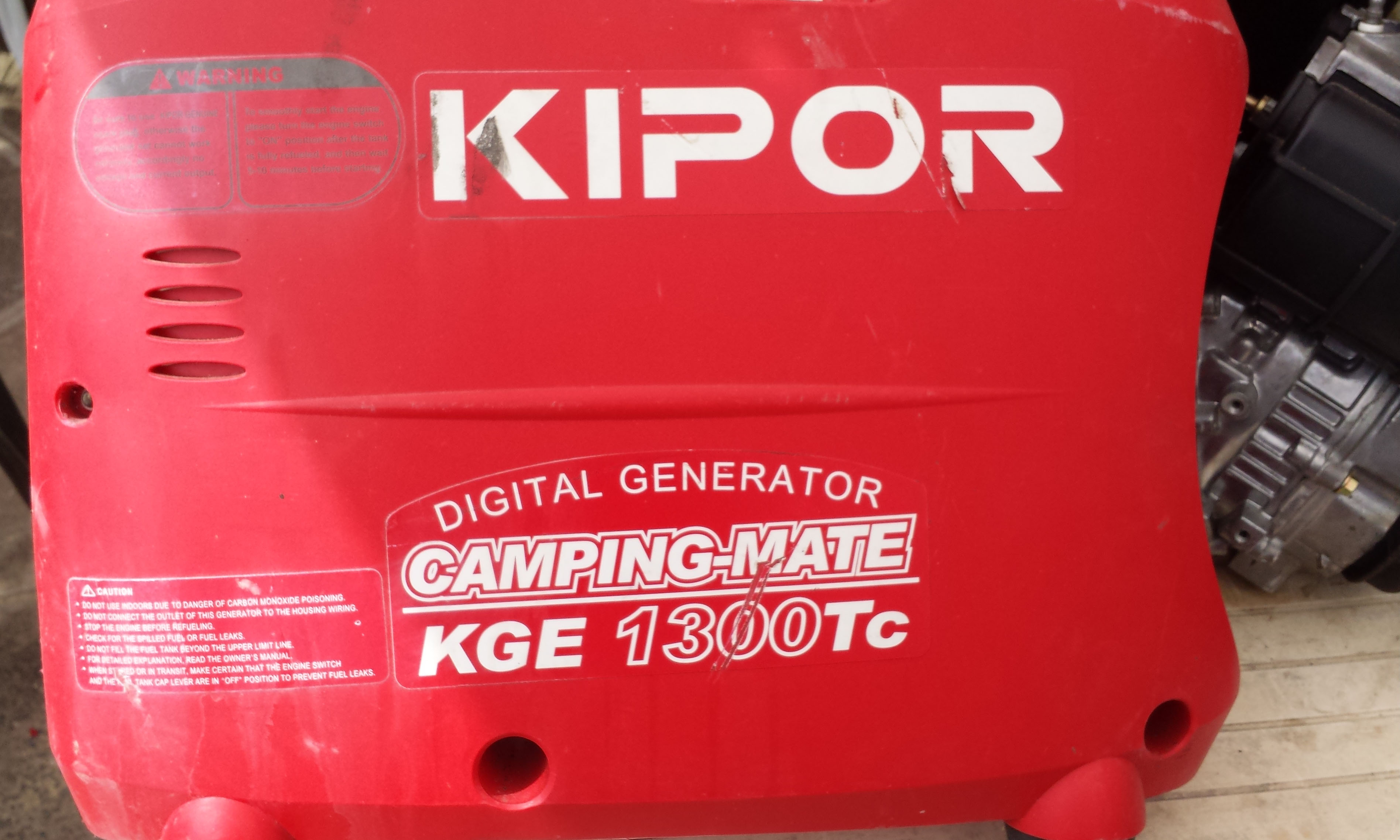 KIPOR KGE 1300TC - Agregat nie daje 240V, 12V jest ok