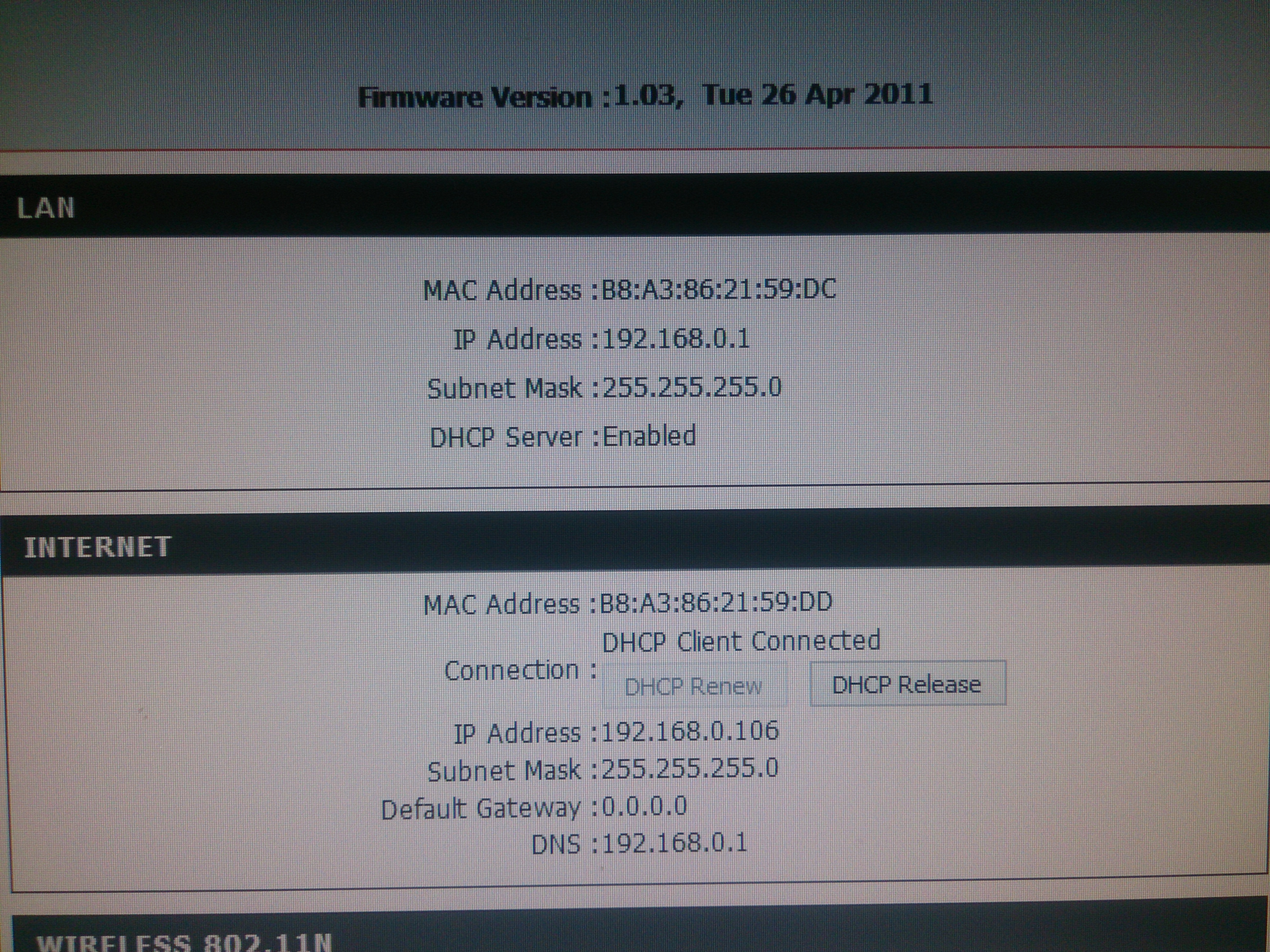 Pod��czenie routera lan > adsl - Brak internetu