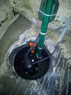 Sterowanie pompy odwadniania piwnicy