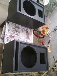 Nadstawki na głośnikach B&C 12PLB76 oraz STX D1000-TI