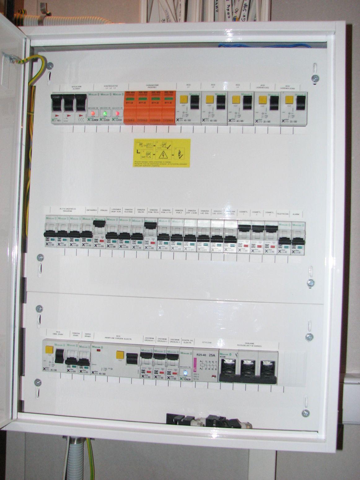wykonanie instalacji elektrycznej w domu jednorodzinnym