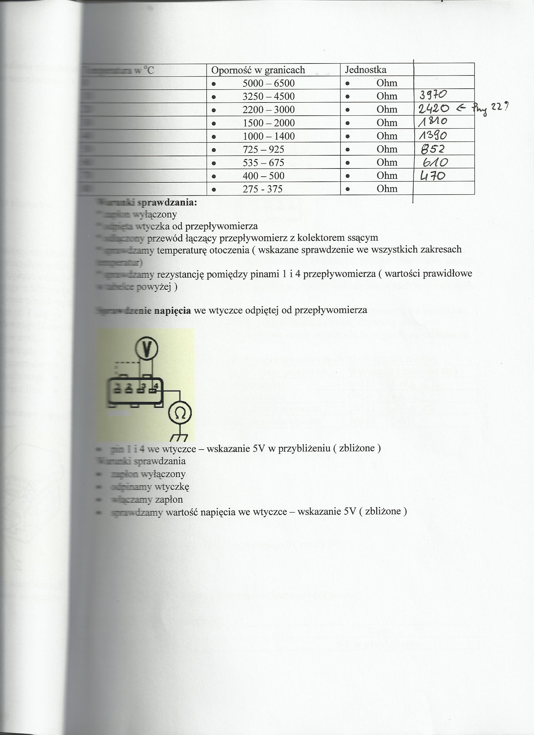 VW 2.0 8v 2e - Sprawdzenie przeplywomierza.
