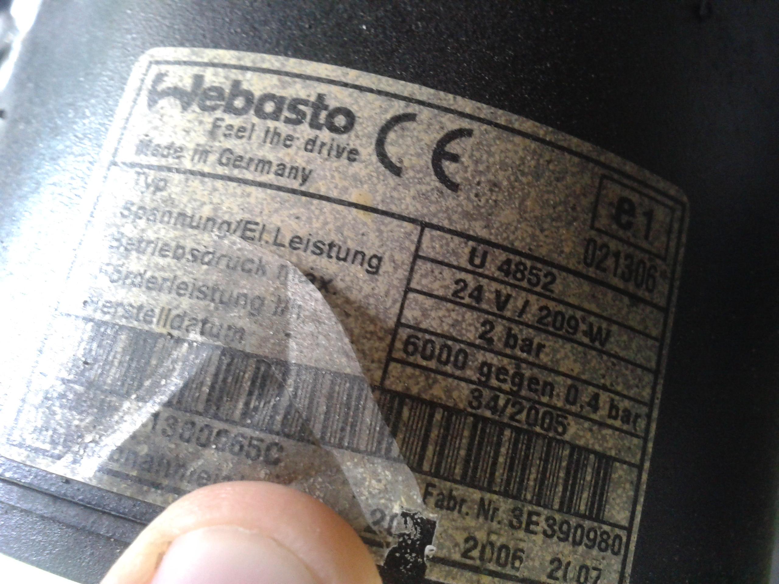 Mercedes Tourismo 0350 2006r - Nie odpala WEBASTO