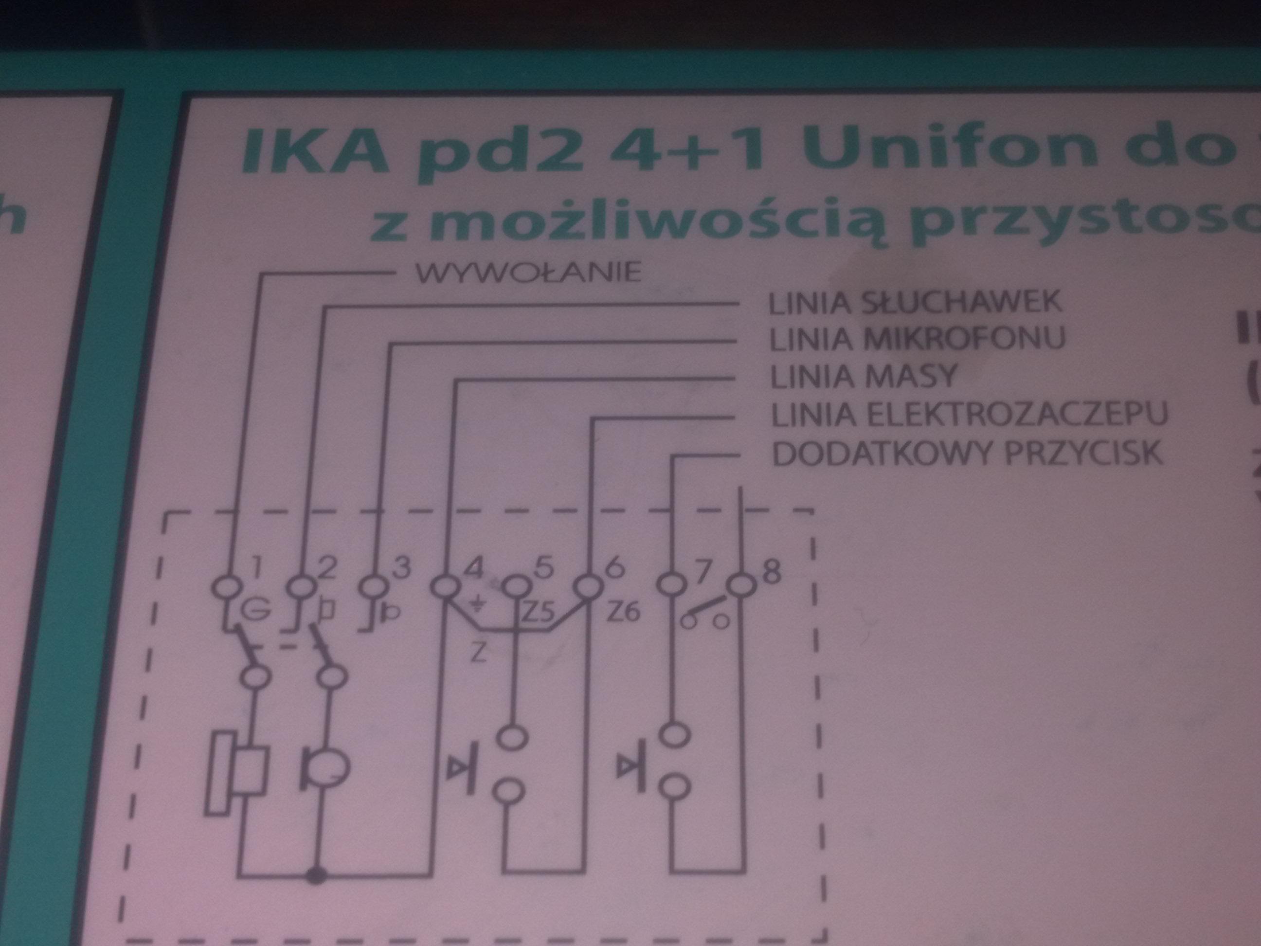 Domofon IKA pd2 jak pod��czy�?