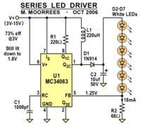 Utrzymanie stałej jasności 4 diod led przy zasilaniu 4xAA(NiMH)