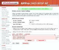 APPro 2405 - Wireless Access Control Settings