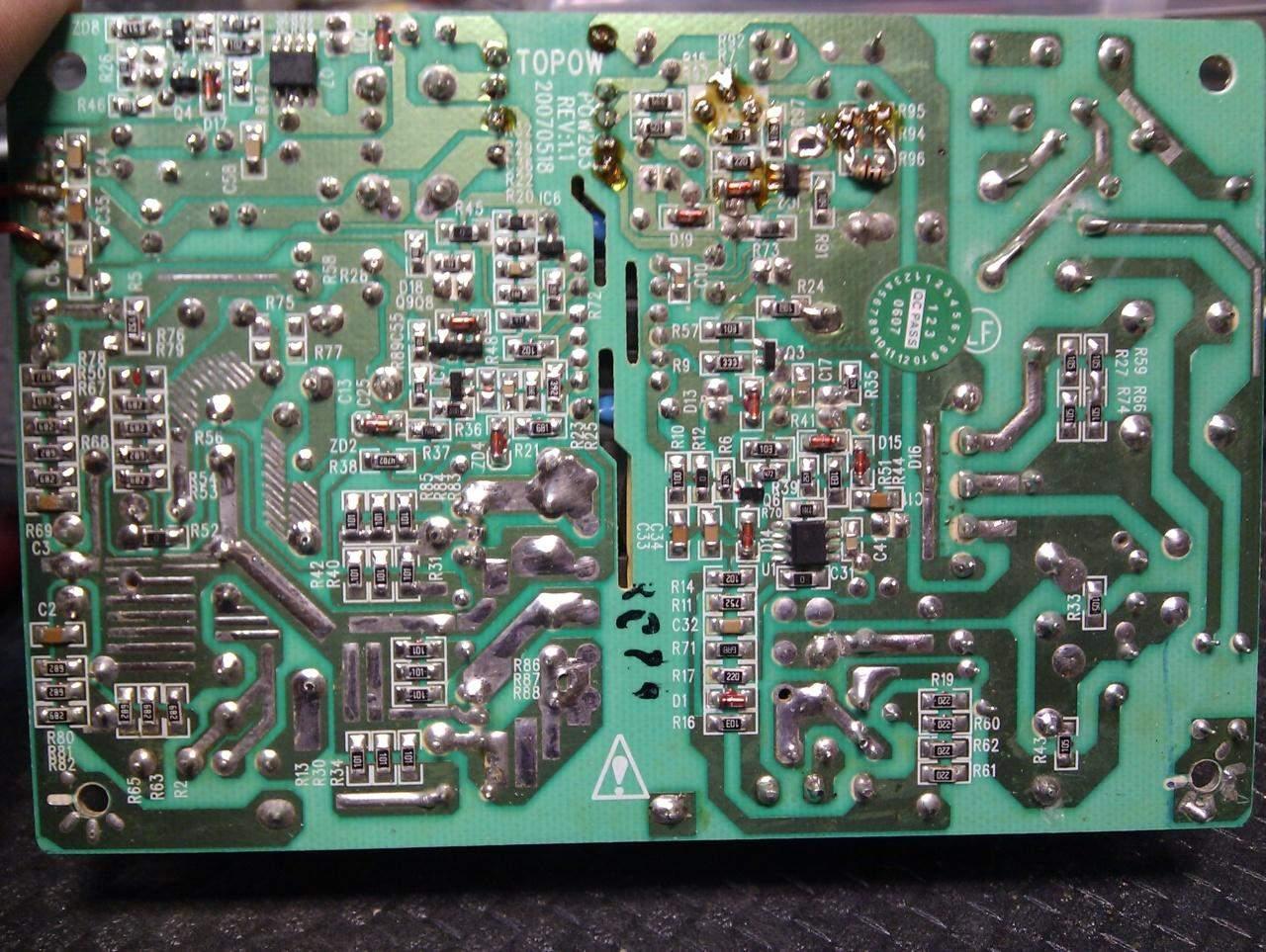 Zasilacz impulsowy nie startuje TOPOW POW283 5V 12V 2x37V