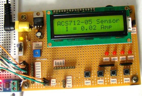 Pomiar pr�du z u�yciem czujnika ACS712