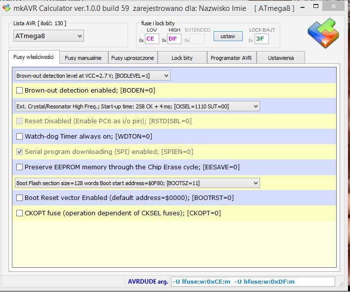 Atmega88PA nie wykrywana przez UABasp