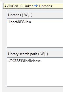 AVR Studio 5 problem z linkowaniem biblioteki