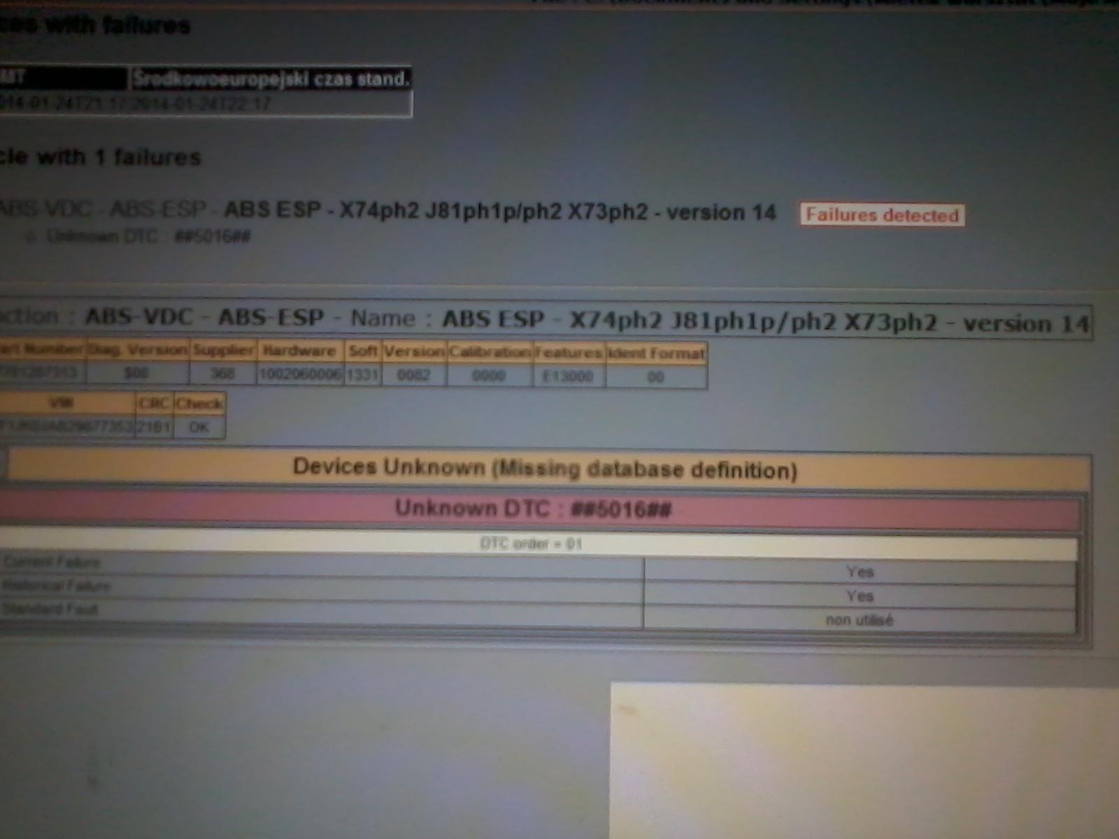 Espace iv - b�ad 5016 abs esp
