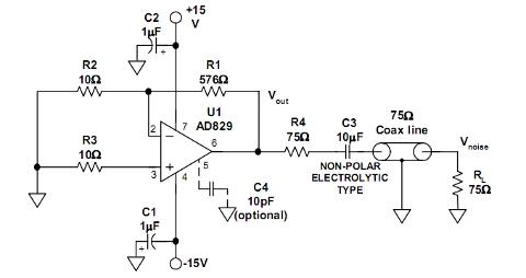 Prosty generator szumu białego