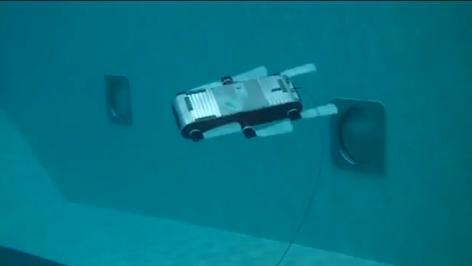 AQUA - Podwodny robot kontrolowany wodoszczelnym tabletem