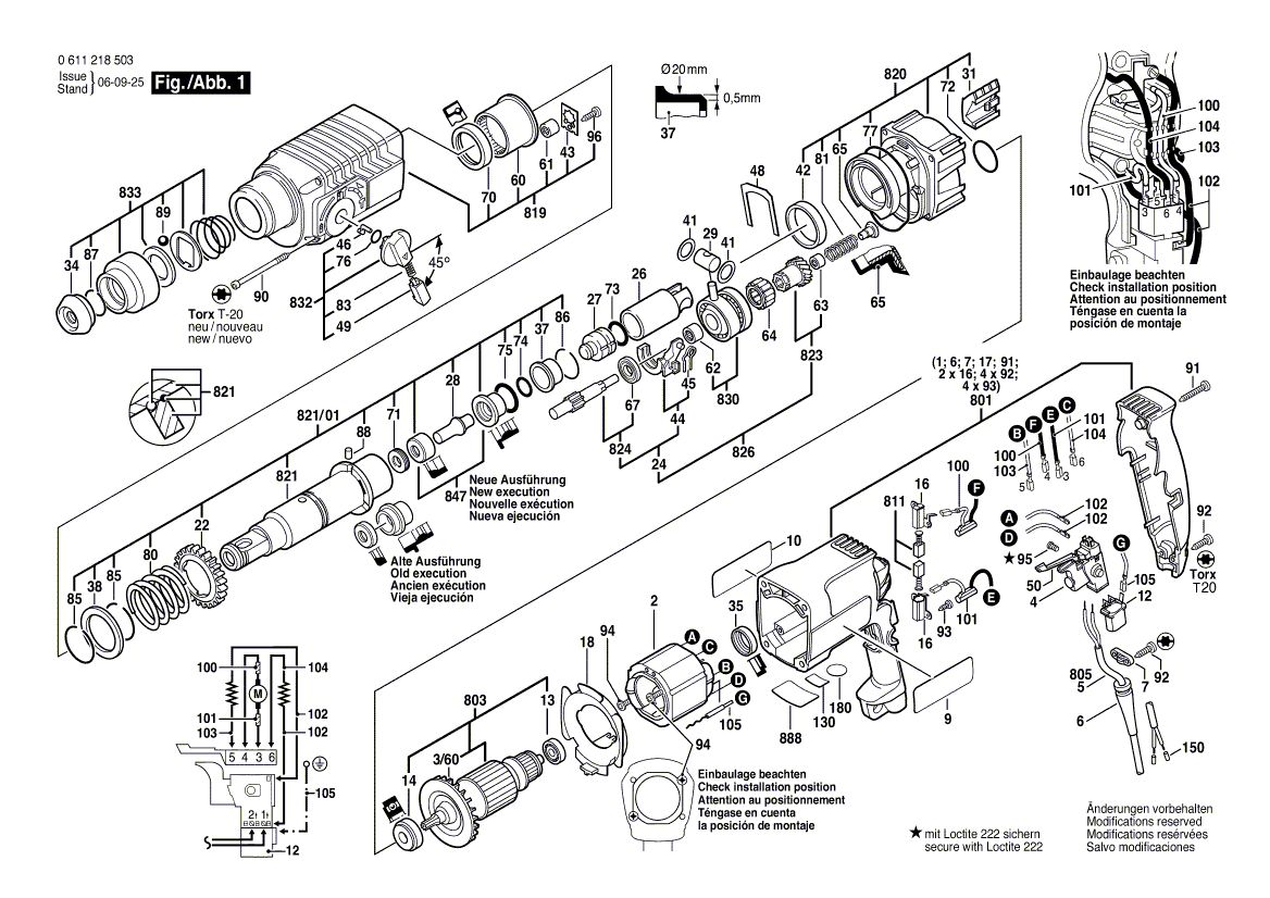 Nie mog� z�o�y� ponownie - Bosch GBH 2-24 DFR
