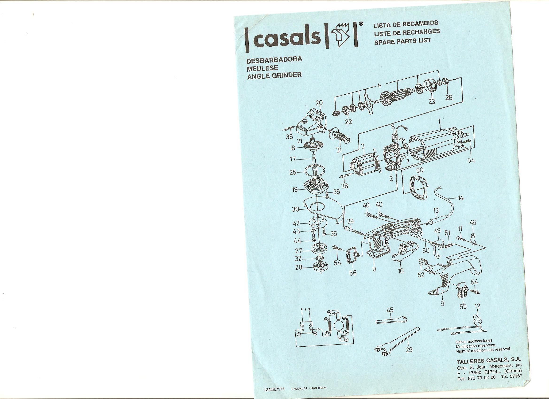 AG21/230 - Szlifierka k�towa Casals