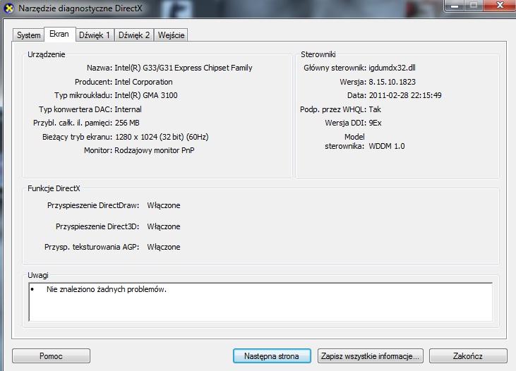 Sterownik ekranu b��d
