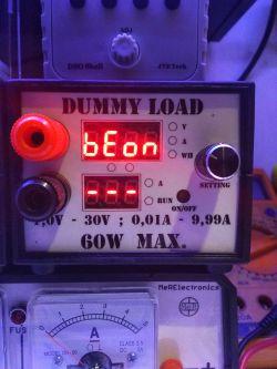 Artificial load 1.0V - 30V 0.01A - 9.99A. Max. 60W R06 - China - review