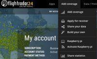 Flightradar24 oferuje konta business gdy uruchomisz odbiornik na Raspberry Pi.