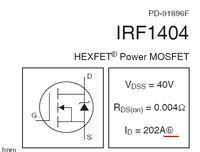 Grubość ścieżki i nóżek tranzystora MOSFET