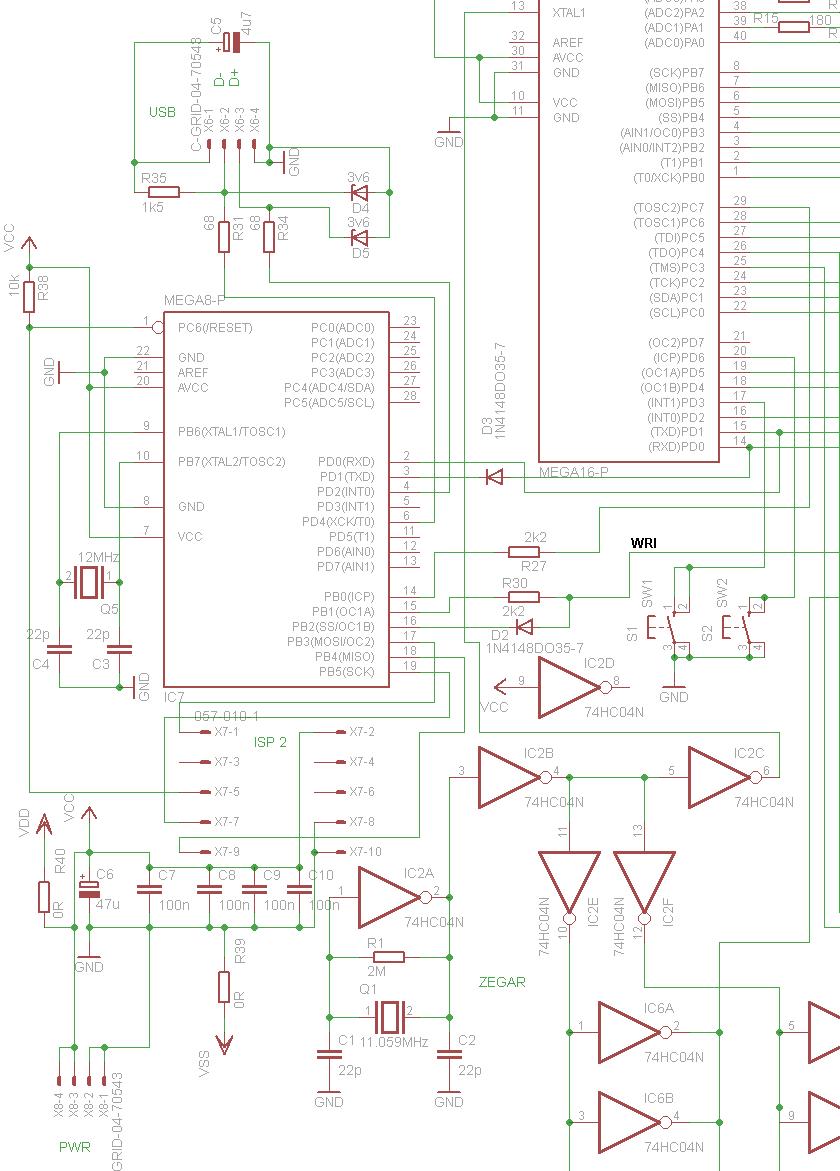 ...ATMEGA8 ma siedzieć kod, pozwalający na wykrycie urządzenia przez PC lub MAC jako urządzenie USB HID.