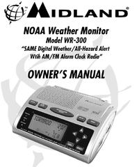 Midland WR 300 20 VHF Weather Alert Radio Manual
