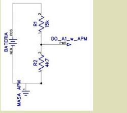 Dzielnik napięcia do pomiaru napięcia w APM 2.8