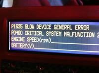 "Vauxhall Zafira 2002r 2.2TDI ��ta kontrolka ""service"" zapala si� i ga"