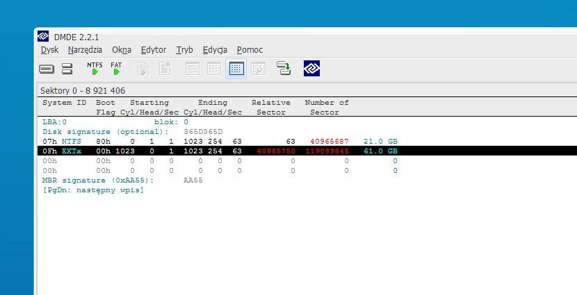 HDD Problem z RAW dysk 80GB Maxtor model 6y080p0422811