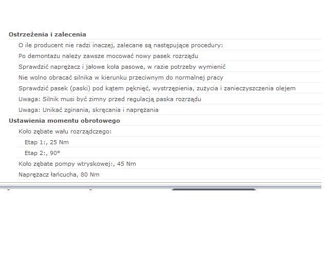 MERCEDES VITO 2.3 TD poszukuję schematu układu rozrządu.