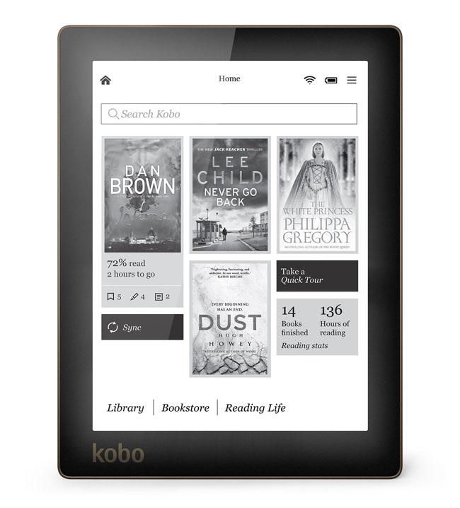 Kobo aura - czytnik z pod�wietlanym ekranem E Ink o rozdzielczo�ci 1114 x 758